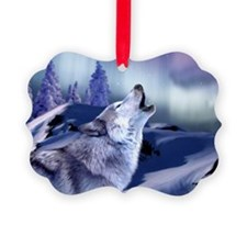 Winter Wolf Ornament