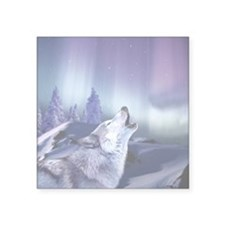 "Winter Wolf Square Sticker 3"" x 3"""