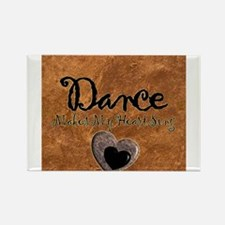 Dance Makes My Heart Sing Rectangle Magnet