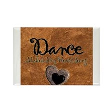 Dance Makes My Heart Sing Rectangle Magnet (100 pa