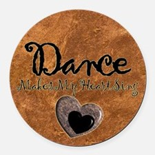 Dance Makes My Heart Sing Round Car Magnet