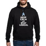 Keep Calm and Stay Logical Hoodie (dark)