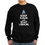 Keep Calm and Stay Logical Sweatshirt (dark)