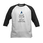 Keep Calm and Stay Logical Kids Baseball Jersey
