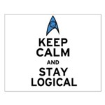 Keep Calm and Stay Logical Small Poster