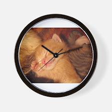 Sleepy little Kitty Wall Clock