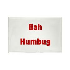 Bah Humbug (red) Rectangle Magnet