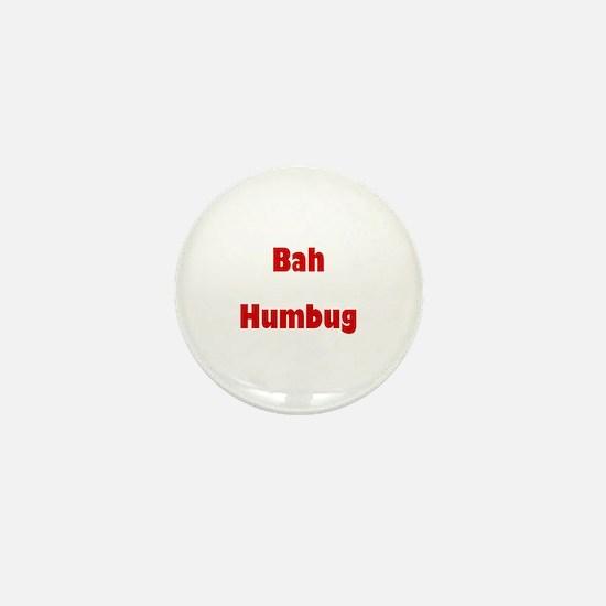 Bah Humbug (red) Mini Button