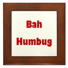 Bah Humbug (red) Framed Tile