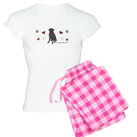 black lab-more breeds Women's Light Pajamas