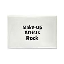 MAKE-UP ARTISTS Rock Rectangle Magnet