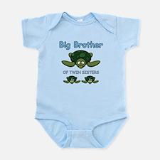 Big Bro Twin Turtle Infant Bodysuit
