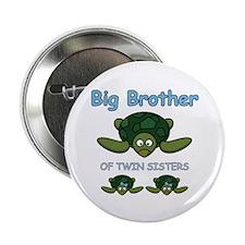 """Big Bro Twin Turtle 2.25"""" Button"""