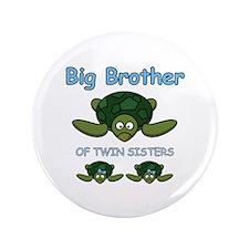 """Big Bro Twin Turtle 3.5"""" Button"""