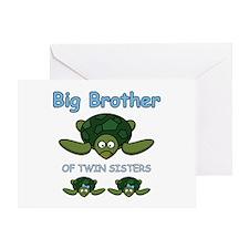 Big Bro Twin Turtle Greeting Card