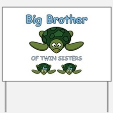 Big Bro Twin Turtle Yard Sign