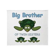 Big Bro Twin Turtle Throw Blanket