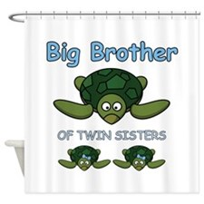 Big Bro Twin Turtle Shower Curtain