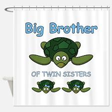 Big Bro Twin Turtle Shower Curtain