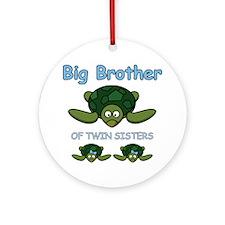 Big Bro Twin Turtle Ornament (Round)