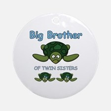Big Bro Twin Turtle Ornament (Round)
