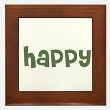 happy Framed Tile
