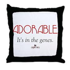 Adorable Genes Throw Pillow