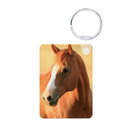 horse portrait Aluminum Photo Keychain