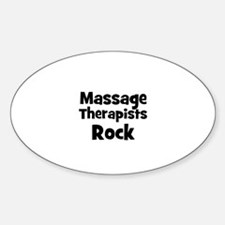 MASSAGE THERAPISTS Rock Oval Decal