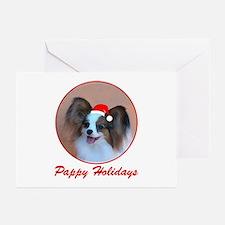 Pappy Holidays (sable santa hat) Greeting Cards (P
