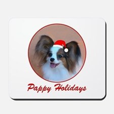 Pappy Holidays (sable santa hat) Mousepad