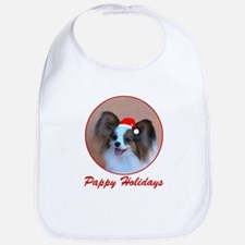 Pappy Holidays (sable santa hat) Bib