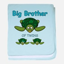 Big Bro Twin Turtle baby blanket