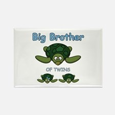 Big Bro Twin Turtle Rectangle Magnet
