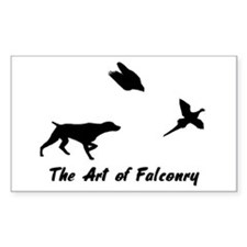 GSP and Falconry Rectangle Decal