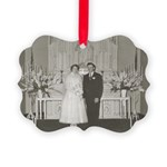Nadine and Milt Picture Ornament