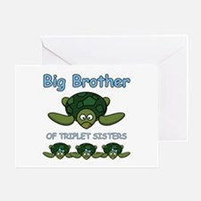 Big Bro Triplet Turtle Greeting Card