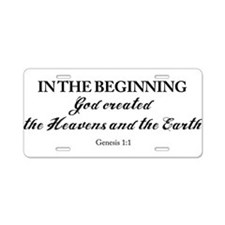 Genesis 1:1 Aluminum License Plate