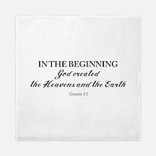 Genesis 1:1 Queen Duvet