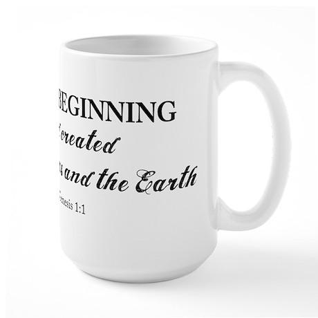 Genesis 1:1 Large Mug