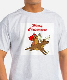 Merry Christmoose Ash Grey T-Shirt