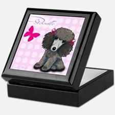Poodle Girl Keepsake Box