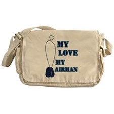 my love my airman Messenger Bag