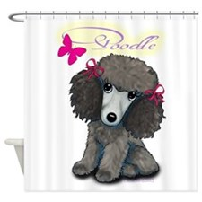 Poodle Girl Shower Curtain