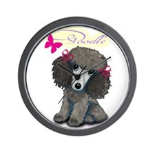 Poodle Girl Wall Clock