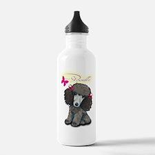 Poodle Girl Water Bottle