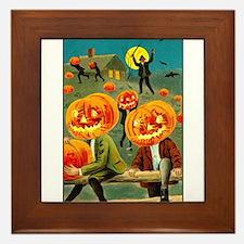 Jack-o-lanterns Framed Tile