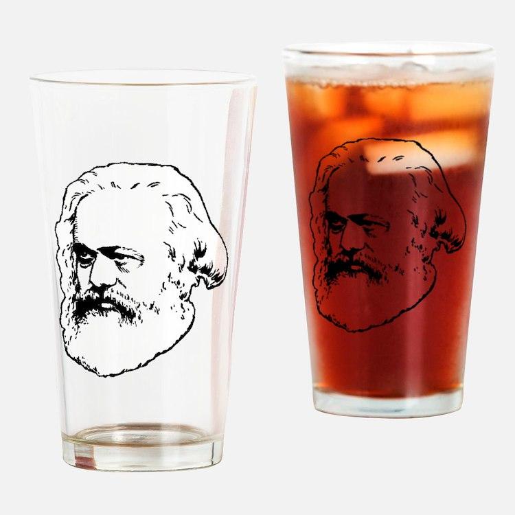 Cute Marxist Drinking Glass