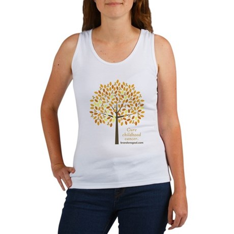 Gold Ribbon Tree Women's Tank Top