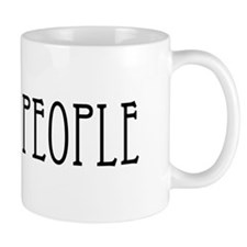 Cats greater than people black Mug